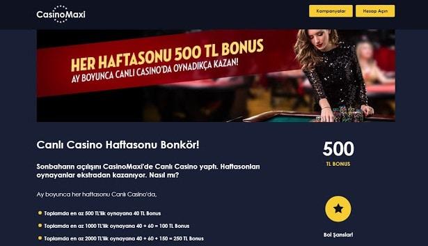 casinomaxi casino bonuslari